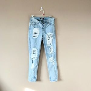 Almost Famous High Waist Distressed Jeans
